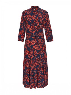 Gestuz Kjole - Raida Long Dress, Red Flower