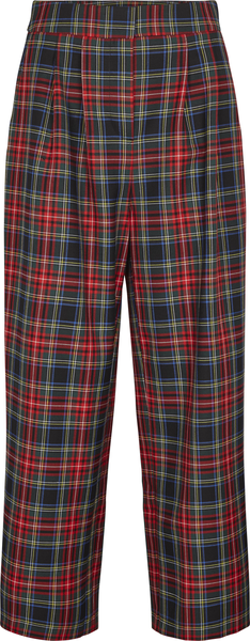 Just Female Bukser - Sinclair trousers, Red Check