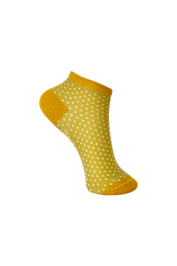 Black Colour Strømper - Didi Sneaker Sock, Yellow