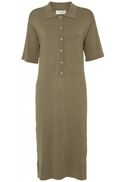 NORR kjole - Chelsea knit dress, Light Brown Melange