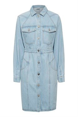 Gestuz Kjole - DacyGZ LS dress, Light Blue