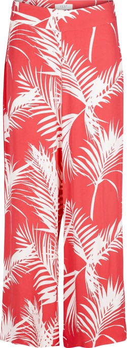Just Female Bukser - Luciana Trousers, Tropic Leaf Pink AOP