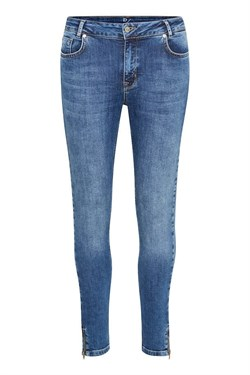 Denim Hunter Jeans - The Cillezip High Custom, Medium Blue Ankle