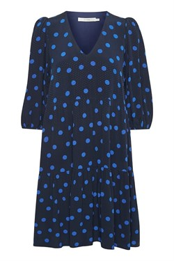 Gestuz Kjole - AnnaliGZ dress, Navy Blue Dot