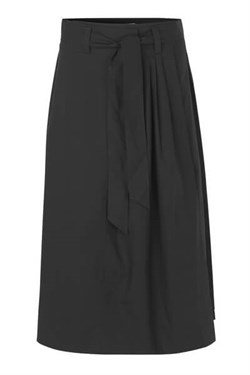 Second Female nederdel - Phoebe HW Wrap Skirt, Black