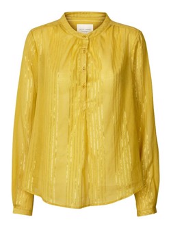 Lollys Laundry skjorte - Singh shirt, 39 Yellow