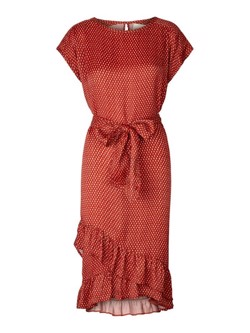 Lollys Laundry Kjole - Claudia dress, Red small Feather