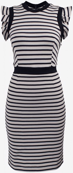 Baum und Pferdgarten kjole - Jasey Dress, Cream Stripe