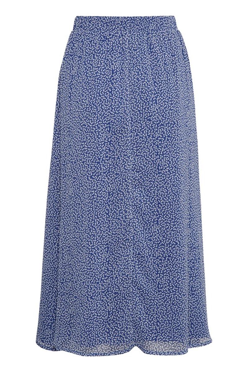 Gestuz Nederdel Clover long Skirt, Clematis Blue