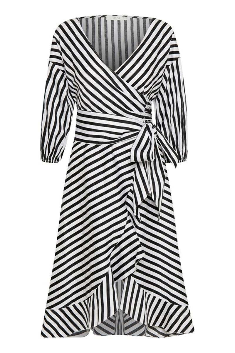 e80c239e Gestuz Kjole - Strielle Dress, Black / White Stripe