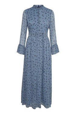 Gestuz Kjole - Jeanett Long Dress, Blue Flower