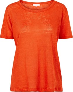 Second Female T-shirt - Peony O-Neck Tee, Lava