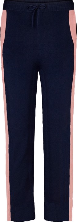 Second Female Strikbukser - Nili Knit Wide Trousers, Navy