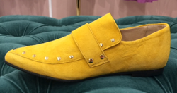 Ivylee Loafer - Gilian Loafer, Yellow w. Gold studs