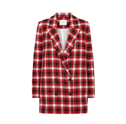 Just Female Jakke - Holmes Blazer, Red Check
