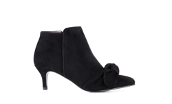 Ivylee stilletter - Milly Bow Stilletto Boot - Black