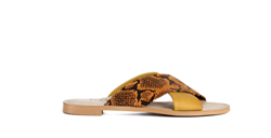 Sandaler - Claudia Sandal, Orange Snake & Yellow