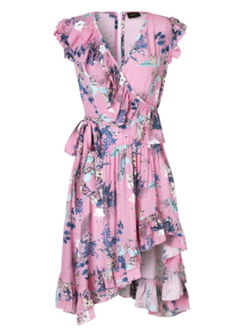 Ravn Kjole - Becca dress, Pink Flower