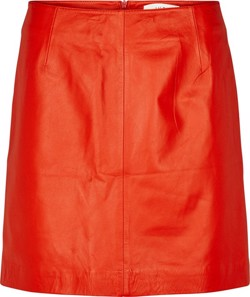 Just Female Nederdel - Slow Leather Skirt - Posh Red