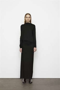 Rabens Saloner Kjole - Clare Jersey Draped Dress, Black