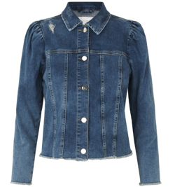 Notes Du Nord denim jakke - Nina Denim Jacket, Mid Blue Wash