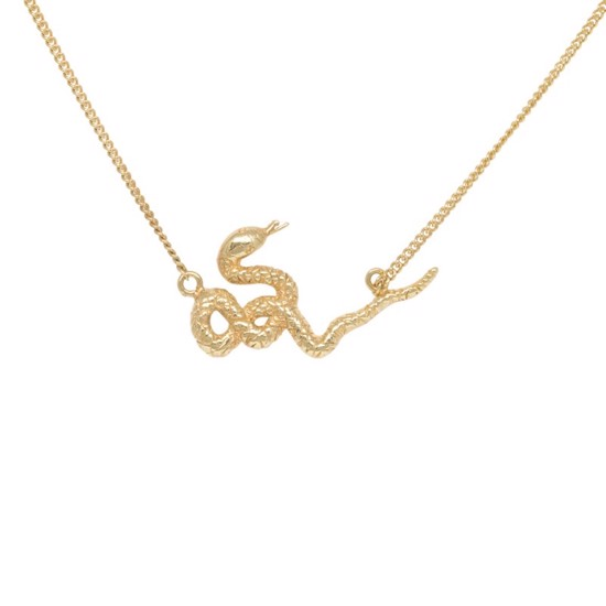 Anna+Nina Halskæde - Snake Necklace, Goldplated