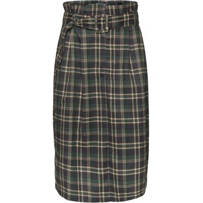 NORR nederdel - Susia Skirt, Green Check