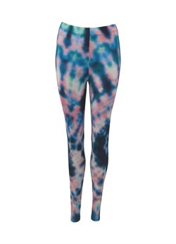 Black Colour Leggins, Sue Tie Dye Leggins, Blue
